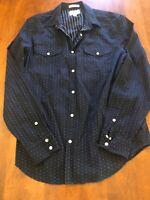 Lucky Brand Mens Dark Blue Shirt Medium Mint Condition