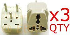 3PK Israel Plug Adapter Universal Output Socket 3 Prong Adaptor