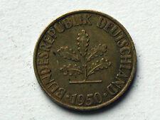 West Germany 1950 D 10 PFENNIG Coin - Munich Mint Variety