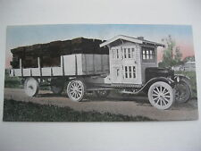 """VINTAGE 1920's SMALL 6 3/4"""" x 3 3/8"""" STAVE TRUCK CALENDAR SAMPLE PRINT LITHO#S25"""