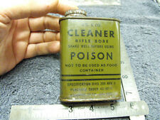 US WW2 era Us Military Issue Empty 6oz Tin Of Bore Cleaner