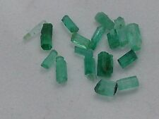 Beautiful Emerald lot, Colombia, 4cts. Stunning, 17 pieces