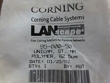 Corning 95-000-50 Lanscape Unicam, St, Mm, Polymer, 62.5um - New Surplus
