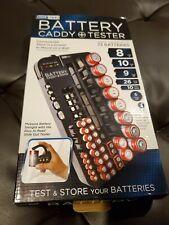 GeekTek Battery Organizer & Tester Caddy Wall Mount Holds 72 Batteries