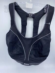 Shock Absorber Sports Bra 30G Black/Silver Ultimate Run Womens BNWOT
