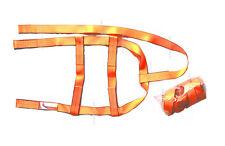 2x DEMCO Basket Straps Tow Dolly Wheel Net LOOP END Dual Edge Orange KAR KADDY