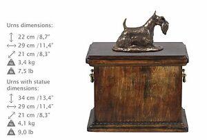 Scottish Terrier, Urn, Kalte Bronze, ArtDog, DE, Type 1