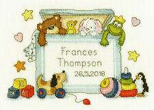 BOTHY THREADS TOY BOX BABY BIRTH SAMPLER COUNTED CROSS STITCH KIT XNB3