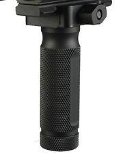 Black Aluminum Stuby Vertical Foregrip Forward Fore Handle Grip Knurled Storage