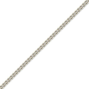 Jewelco London Rhodium Sterling Silver Curb Link Pendant Chain