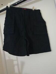 Neuf Mantaray Pour Femme Taille Haute Bleu Short Cargo avec 4 poches