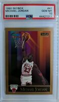 Rare: 1990 90 Skybox MICHAEL JORDAN #41, CHICAGO BULLS, Graded PSA 10 Gem Mint