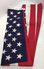 New listing 3' X 5' Usa American 50 Star Flag Poly/Cotton Preowned