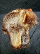 Mens Canadian Beaver Fur Trapper Hat