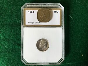 1964 Silver Proof Dimes -T