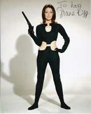 DIANA RIGG Autographed Signed THE AVENGERS EMMA PEEL Photograph - To Lori