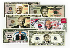 President Donald Trump 1 set of 6 diff. USA fantasy paper money currency