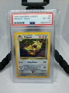 1999 Pidgeot Holo Rare Unlimited Pokemon Card #8/64 PSA 6 EX-MT!!!