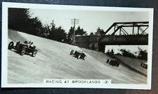 Brooklands Motor Track   Original  Vintage Action Photo Card ~ VGC