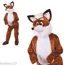 Fox Mascot Animal Big Head Fancy Dress Costume Adult Onesie Mr Fantastic Charity