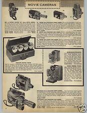 1959 PAPER AD Wollensak Bell & Howell Yaschica Keystone Movie Camera Revere