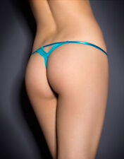 Agent Provocateur LAVELLE Thong in Turquoise Size: 2 Small Ret:$150 New w/Tags