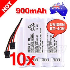 10x 900MAH 3.6V REPLACEMENT For UNIDEN BT-446 CORDLESS PHONE BATTERY BT909