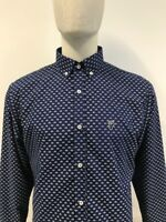 Wigan Casino Scooter Print Long Sleeved Shirt WC/2114 Navy