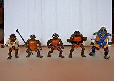 Teenage Mutant Ninja Turtles lot 5 action figures 1990-93