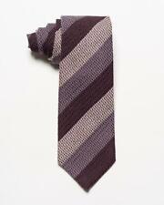 "Tom Ford NWT Purple Lavender Violet Striped Wool Silk Blend Tie 3.25"""