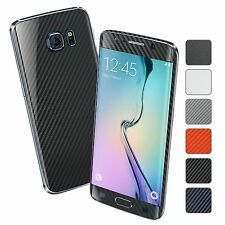 3D Textured CARBON Skin Wrap Sticker Decal Protector for SAMSUNG GALAXY S6 EDGE