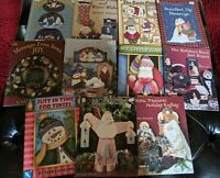 11 Decorative Painting Pattern book Lot Christmas Holiday