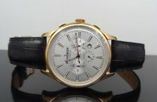 Peugeot MK910RBK Men's Automatic Skeleton Back Day/Date Leather Strap Watch $495