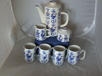 Vtg Avant-garde GettysBurg Japan stoneware Tea/Coffee Set with canister