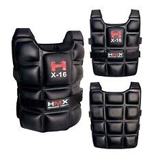 16KG WEIGHTED WEIGHT VEST ADJUSTABLE MMA GYM TRAINING EXERCISE SPORT FITNESS