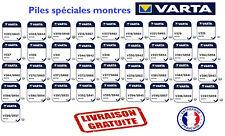 Piles boutons spéciales montres 1,55V marque Varta, oxyde d'argent, Qualité Pro