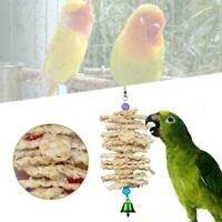 Parrot Bird Toys Natural Wooden Grass Chewing Bite Z8N0 Swing Cage Q8U9 Han N2T7