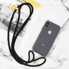 Luxury Transparent Crossbody Necklace Cord Lanyards Rope Phone Case For iPhone