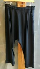 Alexander McQueen tailored harem drop crotch cropped black trousers IT40/UK10
