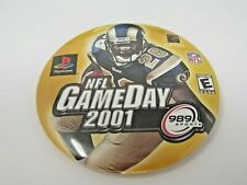 NFL Gameday 2001 Pin Button 989 Sports Playstation Video Game