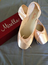 Mirella Advanced Ms101a Pointe Ballet Shoes Pink, Sz 8, 2x Nib Orig. $80