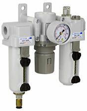 Pneumaticplus Heavy Duty Frl Air Filter Regulator Lubricator Combo 38 Npt
