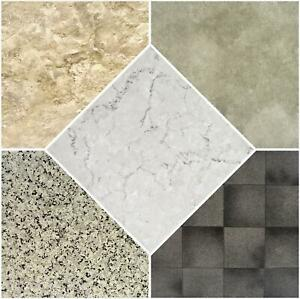 Vinyl Floor Tiles Self Adhesive Textured Grip Flooring DIY Kitchen Bathroom Home