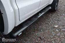 To Fit 2016+ VW Volkswagen Amarok Side Bars Steps Tubes Running Boards Black