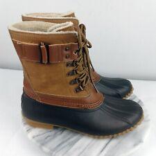 JBU By Jambu Quebec Womens Size 6.5 Brown/Navy Waterproof Duck Boots