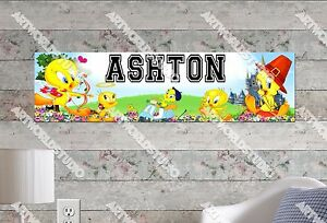 Personalized/Customized Tweety Bird Name Poster Wall Art Decoration Banner