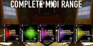 5 CDs MIDI-Files für Musikproduzenten     ++ nicebyte for professional use++