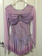 Women's S Custom Lilac Competition Figure Skating dress