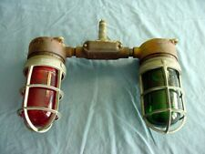 Vintage Appleton Red Green Industrial Explosion Proof Cage Lights Steampunk