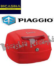 9416 - BAULETTO POSTERIORE 32 LT ROSSO DRAGON 894 VESPA 50 125 150 LX